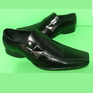 Mens Black Shoes Size 13 Wing Tip Loafers